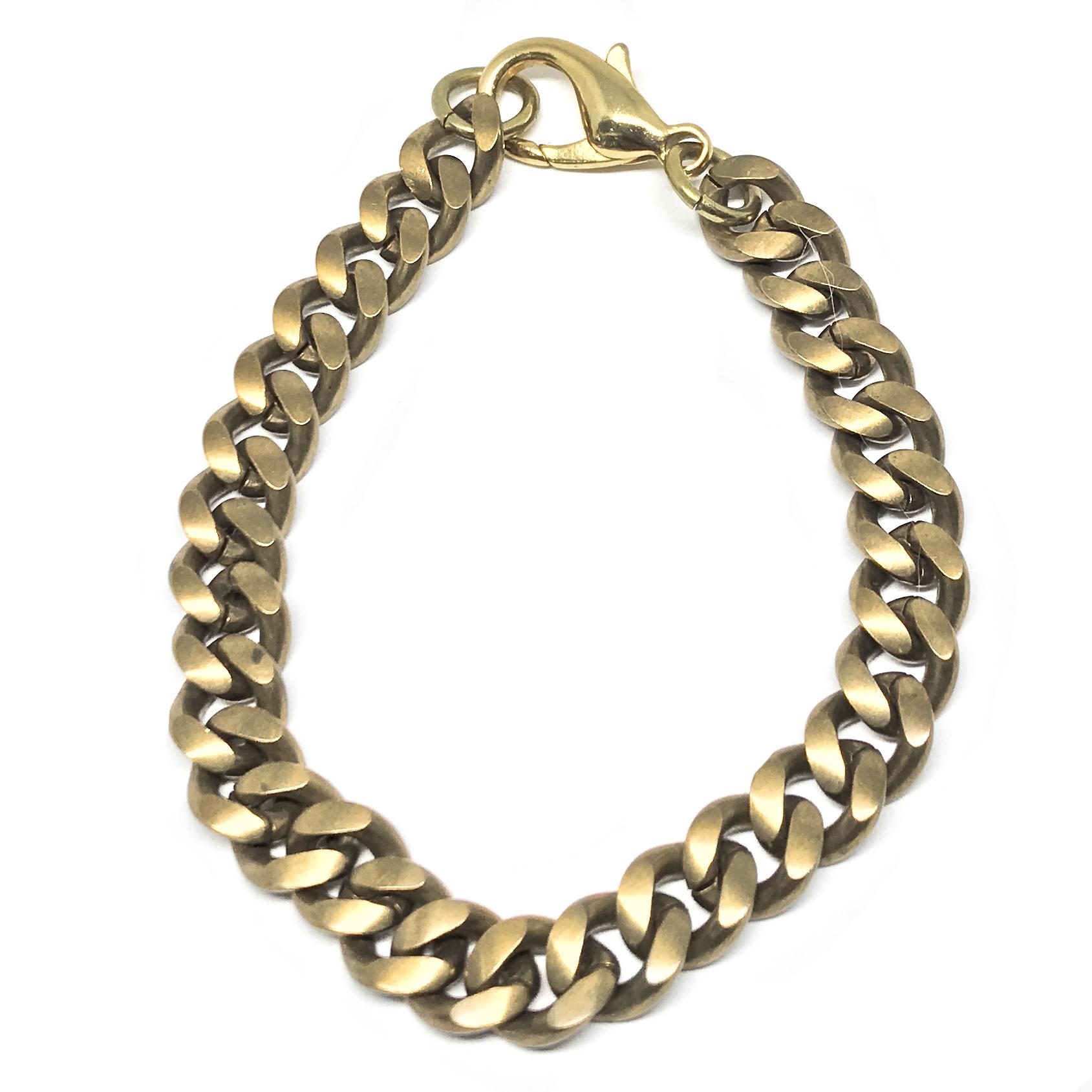 brass classic cuban chain link bracelet