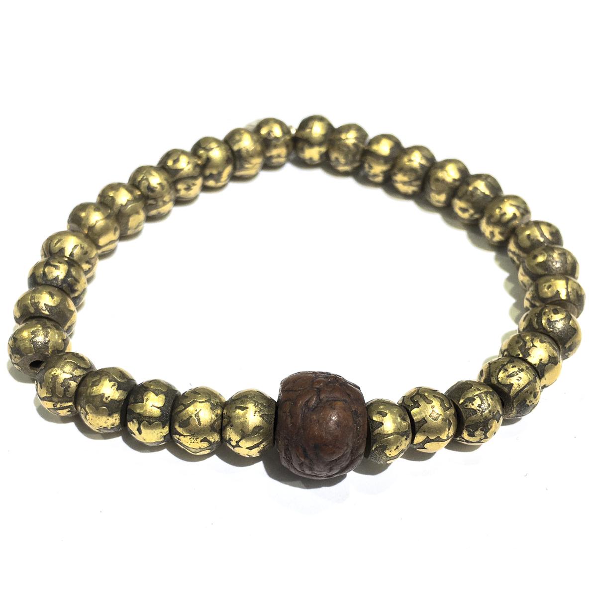 bronze tibetan wood bead s bracelet