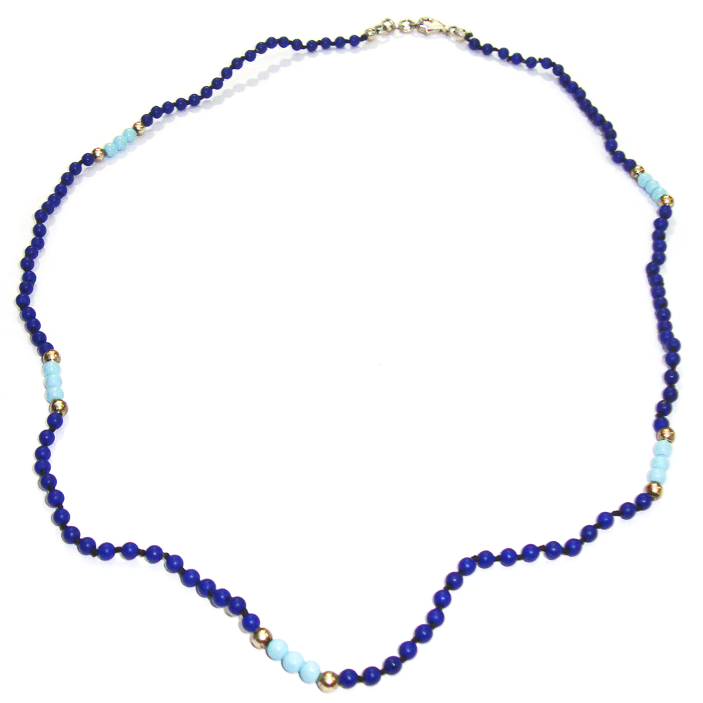 lapis turquoise silver s necklace