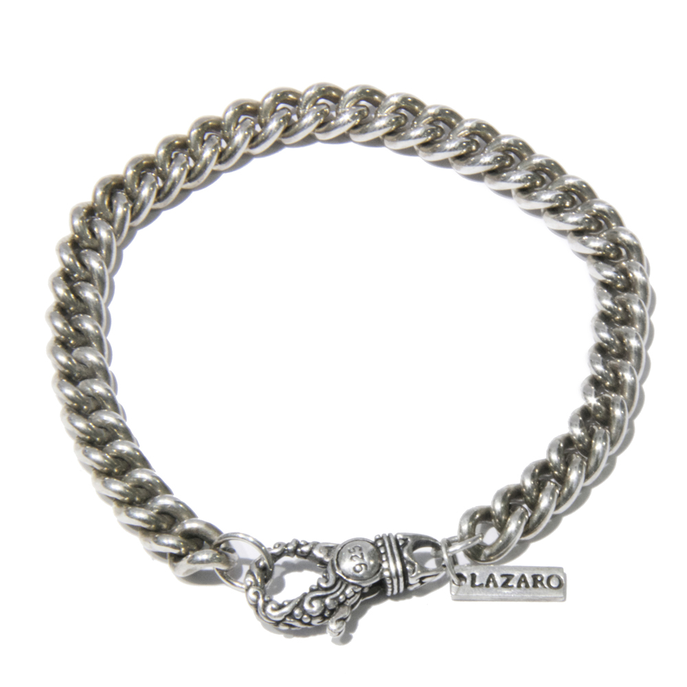 silver curb chain s bracelet