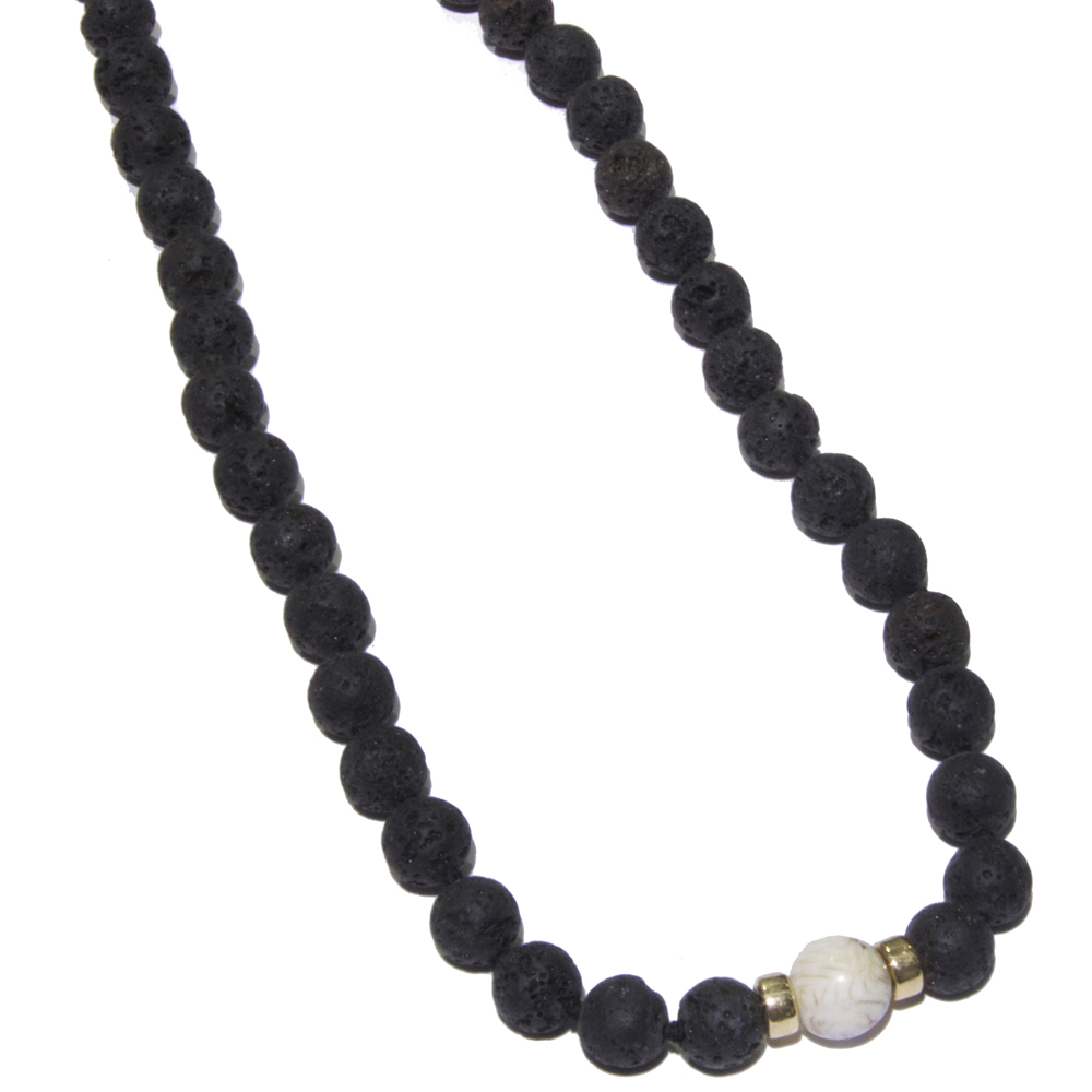 black beaded necklace for mens images