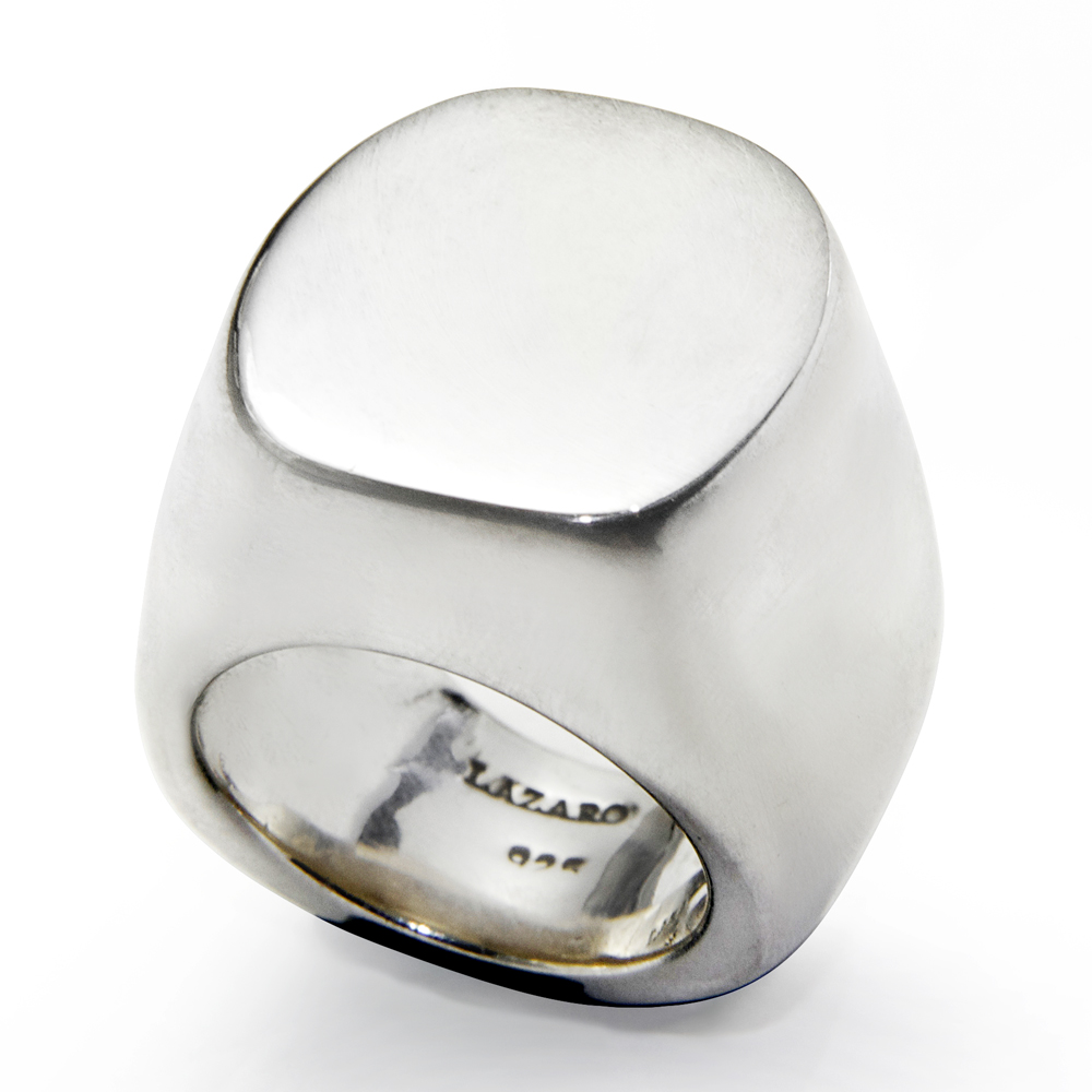 sterling silver large signet ring