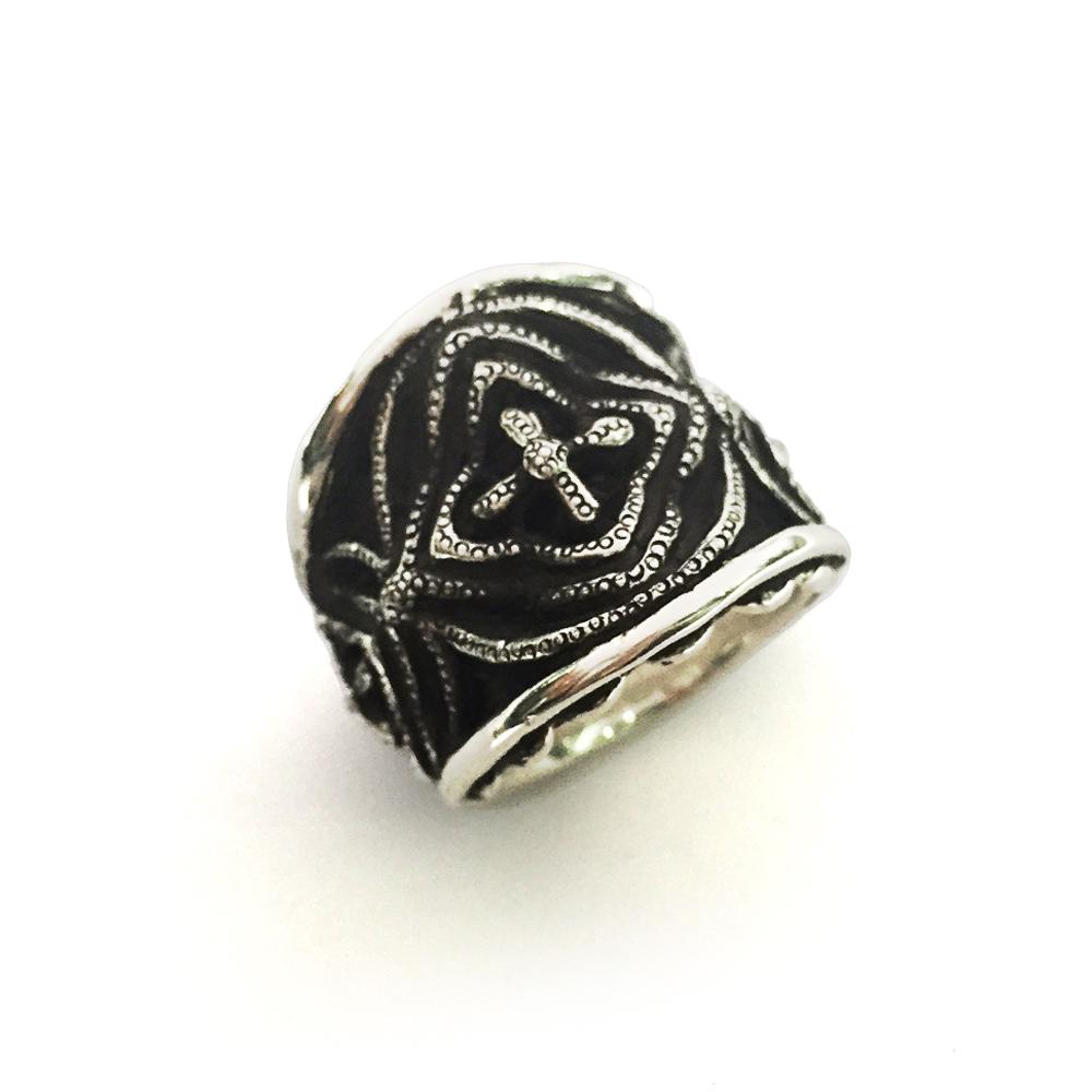 silver biker s ring