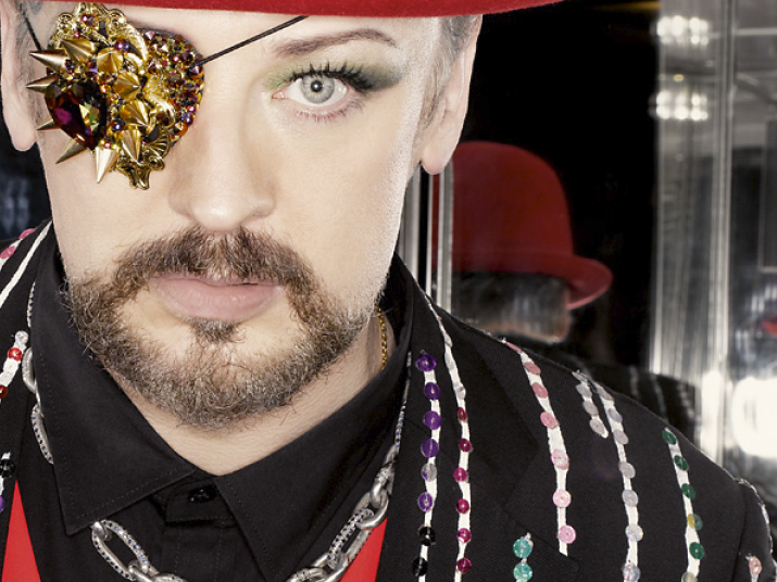 Boy George Wearing Handmade Designer Men's Jewelry by Lazaro SoHo NYC