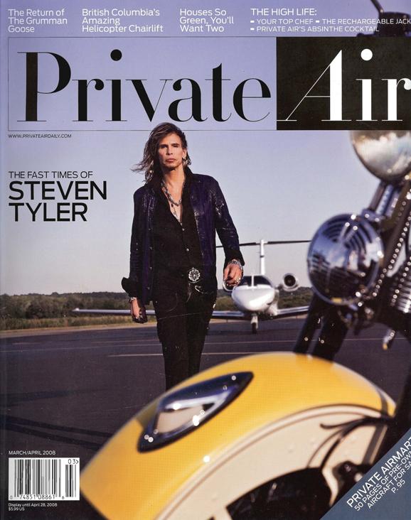 Lazaro Soho on Steven Tyler for Private Air Cover