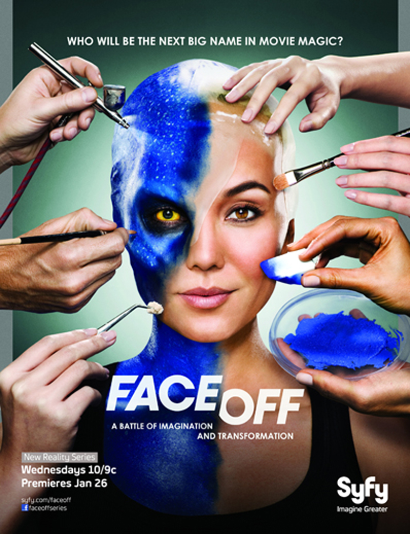 "Ve Neill Star of Syfy Channel's ""Face Off"" Wearing Lazaro SoHo"