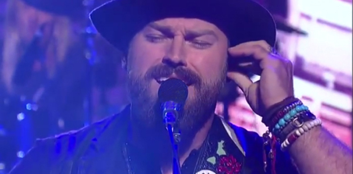 "Zac Brown Wearing Lazaro SoHo Performing Black Sabbath's ""War Pigs"" with the Band Foo Fighters on Letterman"