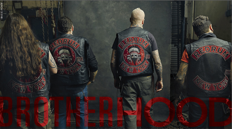 Image of Redrum Motorcycle Club Wearing Lazaro SoHo