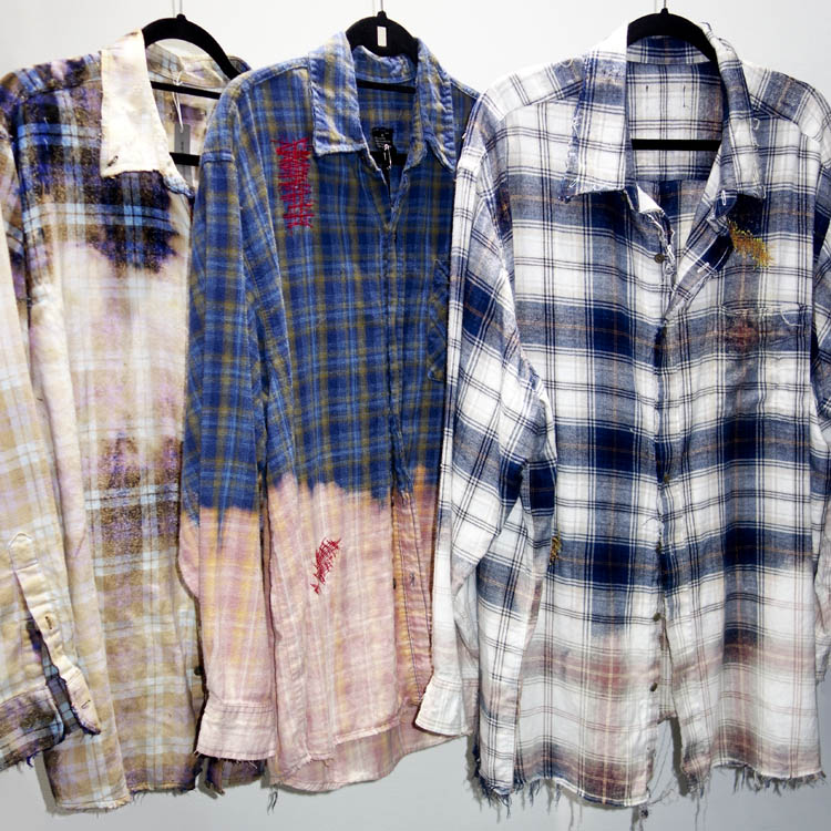 Lazaro Distressed Men's Flannel Shirts