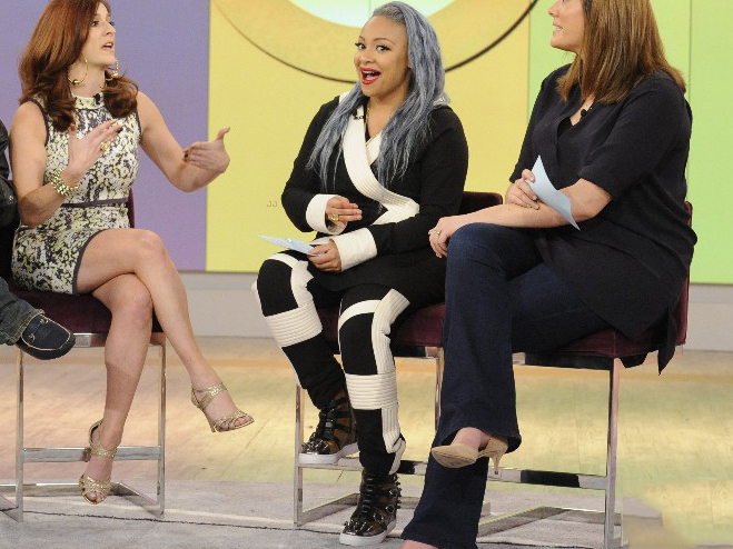 Photo of the cool clothing and fashion that Raven Symone wore during That So Raven reunion on The View.