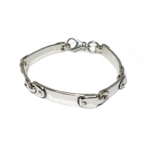 Sterling Silver Multiple ID Bracelet