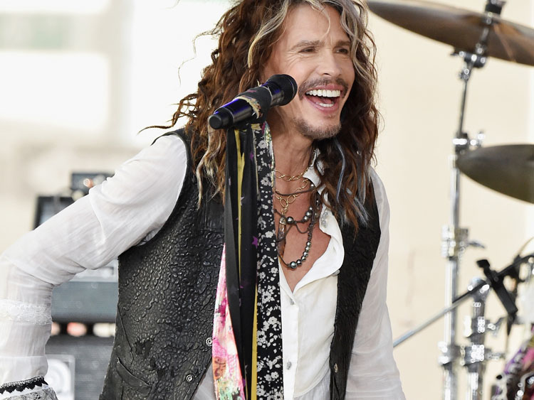 Steven Tyler in Lazaro Jewelry and Scarf