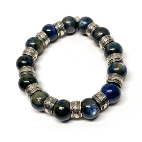 11mm Beaded Kyanite Bracelet