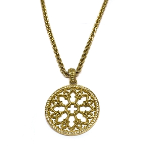 18K Gold & White Diamonds Sacred Geometry Necklace