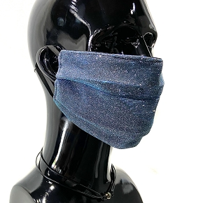 Blue Iridescent Face Mask