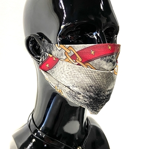 Python & Gold Chain Face Mask