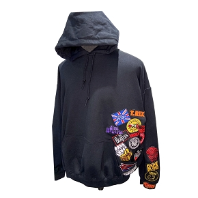 Band Patch Oversized Hoodie