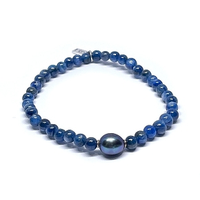 Blue Kyanite & Pearl Bracelet