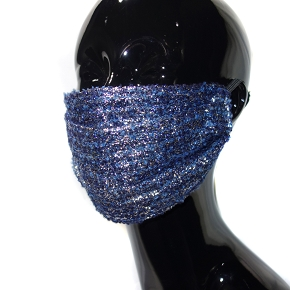 Iridescent Blue & Purple Face Mask
