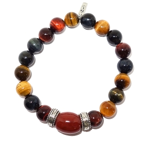 Golden Tiger's Eye & Sterling Silver Accent Bracelet