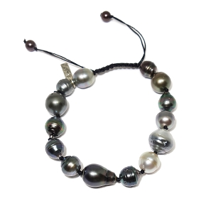 Hand-Strung Baroque South Sea Pearl Bracelet