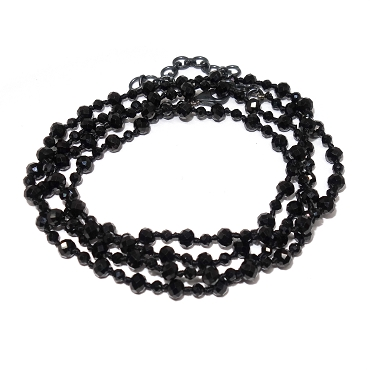 Assorted Size Black Spinel Necklace/Bracelet