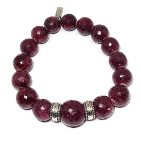 Large Faceted Ruby Bracelet