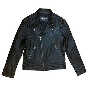 Lenny Turk Born to Race Leather Biker Jacket