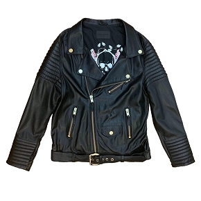 Lenny Turk Skull Leather Biker Jacket