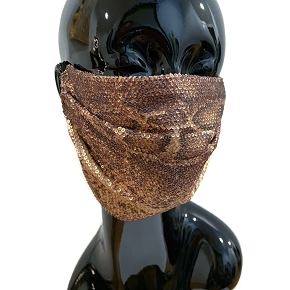 Python Sequin Face Mask