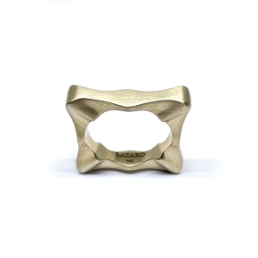 Sculptural Gold Stackable Ring