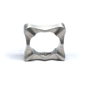 Sculptural Silver Stackable Ring