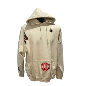Sequin Lips Patch Hoodie