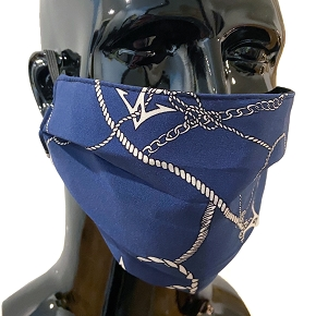 Silver Chain & Anchor Face Mask