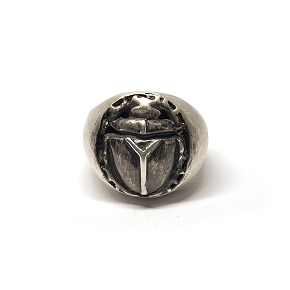 Silver Men's Scarab Ring