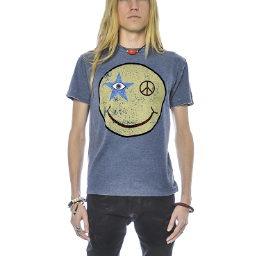 Sparkle Face Burnout T-Shirt