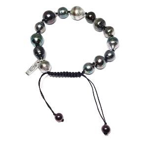 South Sea Pearl Knotted Leather Bracelet