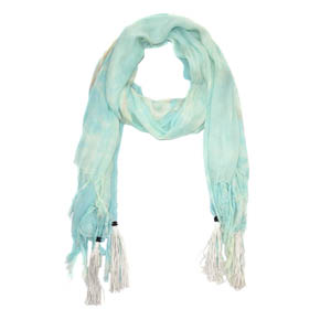 Turquoise Powder Storm KMRii Square Stole
