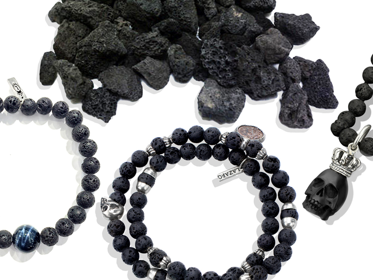 Lava Stone Men's Jewelry
