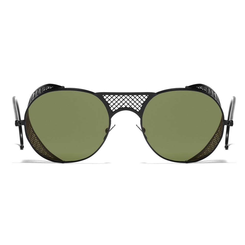 35fbdcb6d098 Black Matte and Green L.G.R. Lawrence Men's Sunglasses - Men's ...