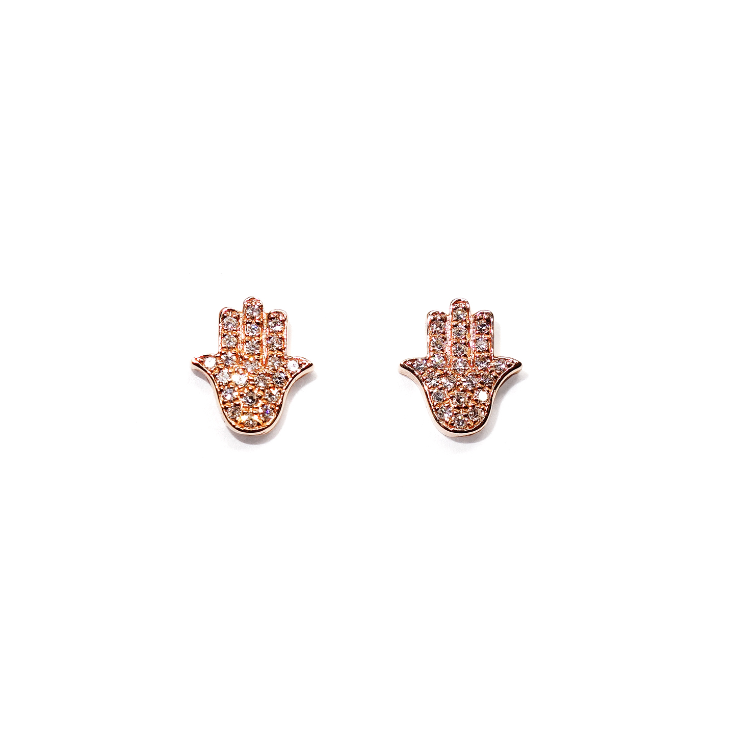hand gold earrings s men diamond rose hamsa mens stud