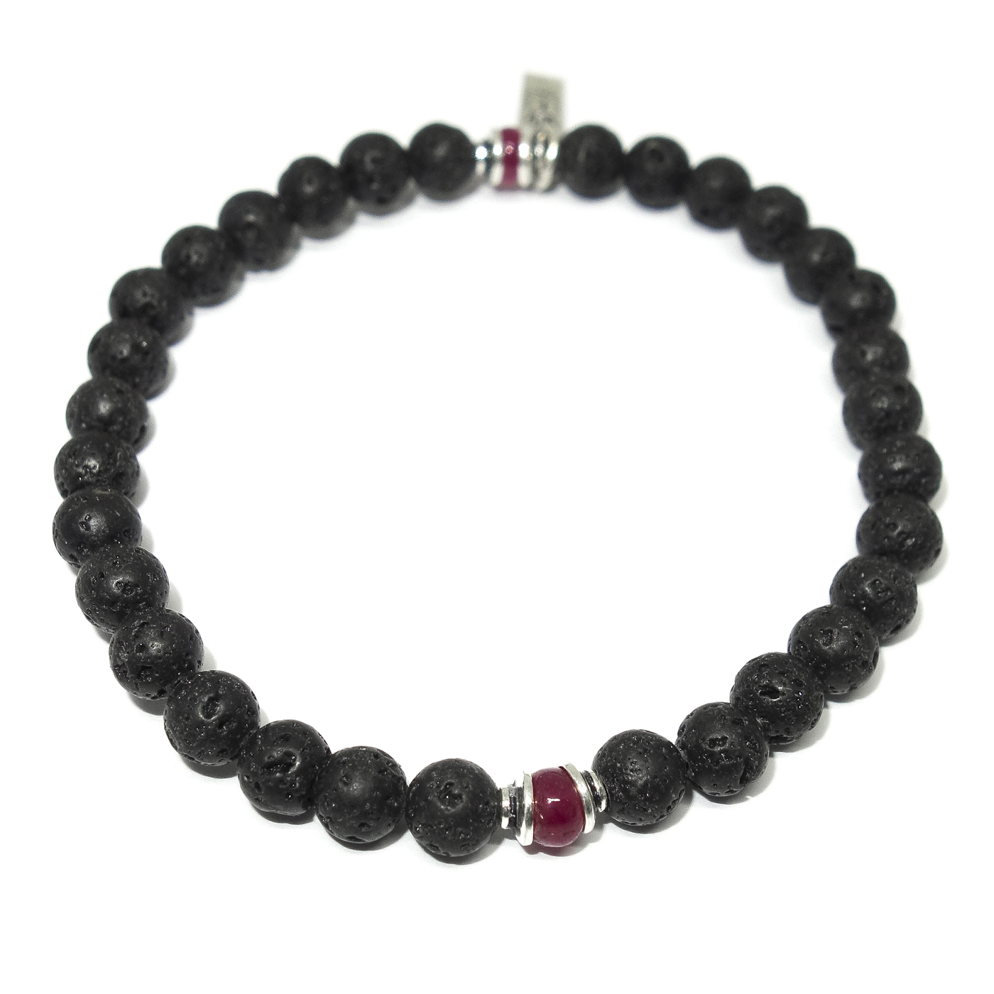 Lava Ruby Men S Beaded Bracelet