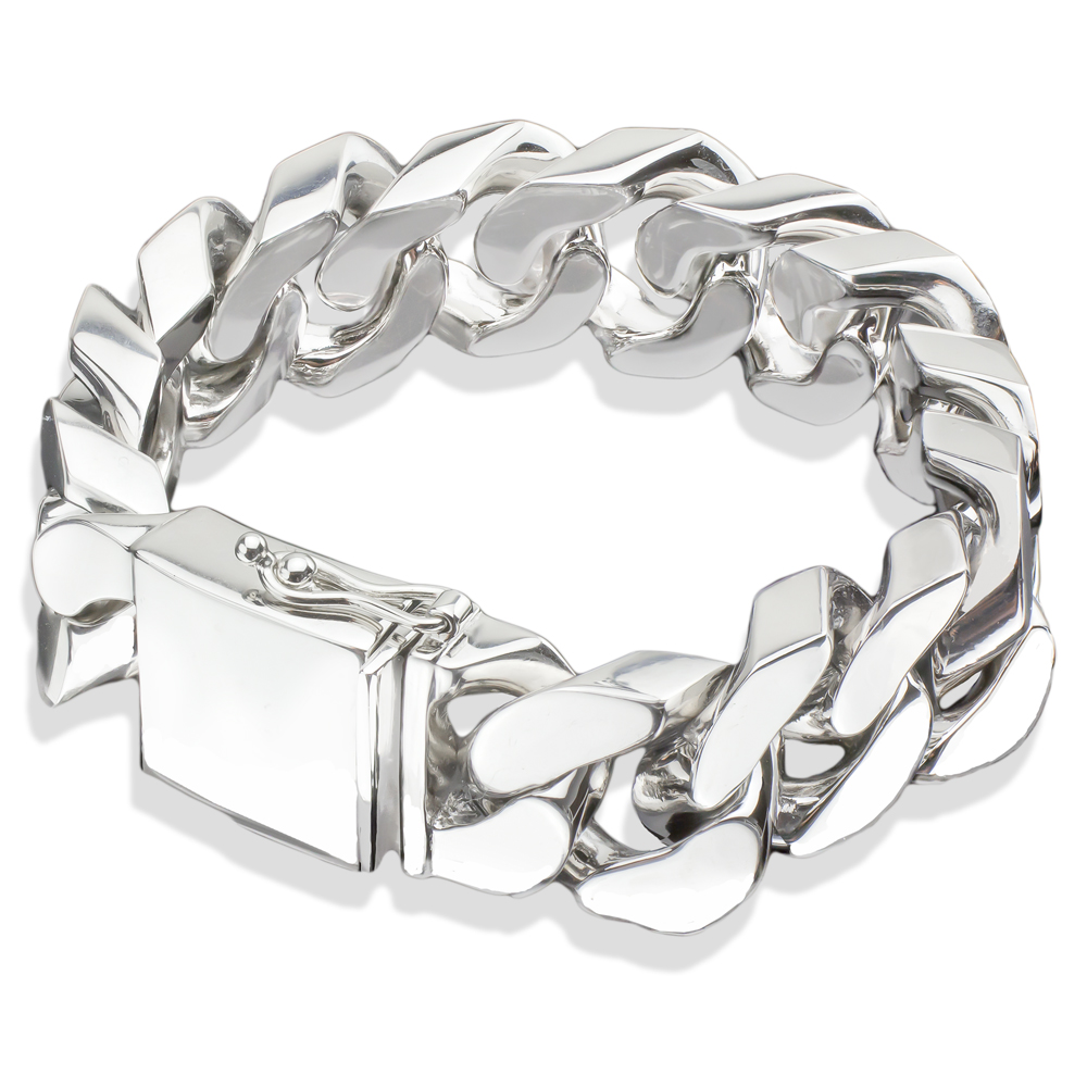 silver duty bracelet wire mens barb heavy