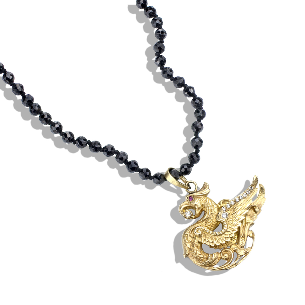14Kt Gold Dragon Pendant