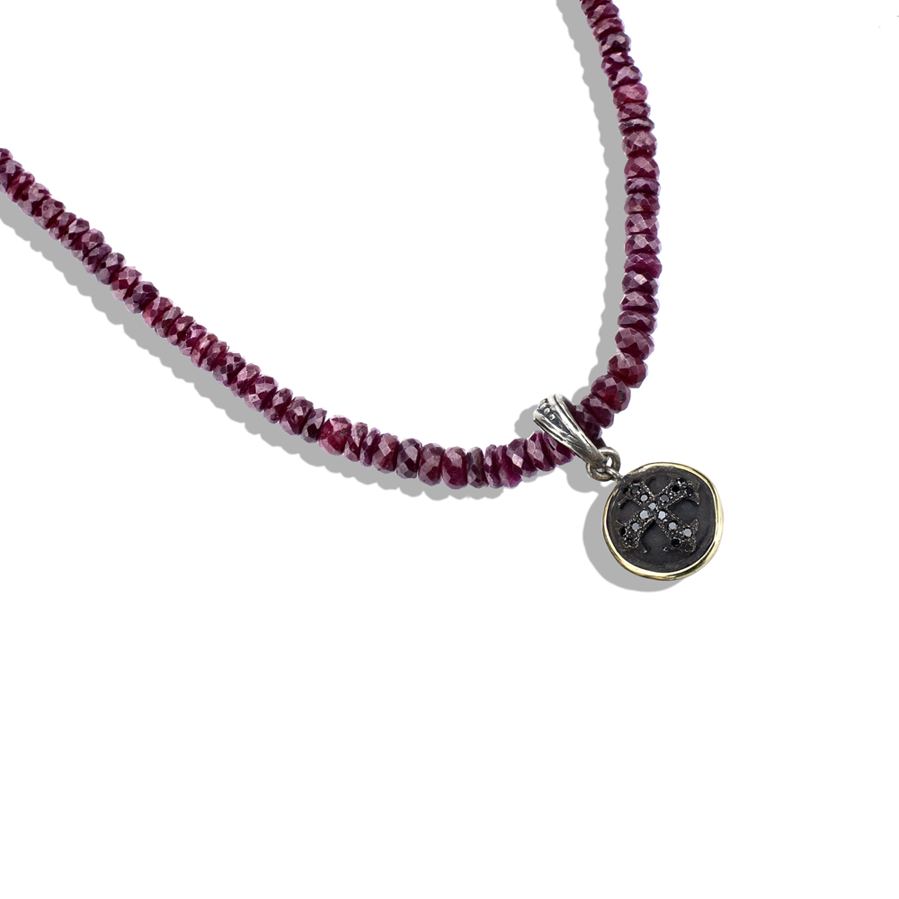 cross collections rose ruby and necklace necklaces z products gold ct diamond