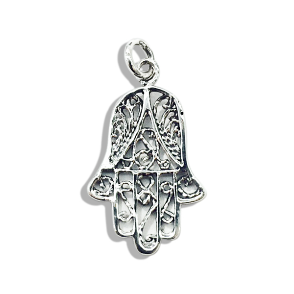 Silver hand of god pendant top aloadofball Image collections