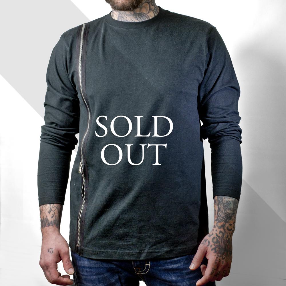 Black t shirt with zipper - Black T Shirt With Zipper Top