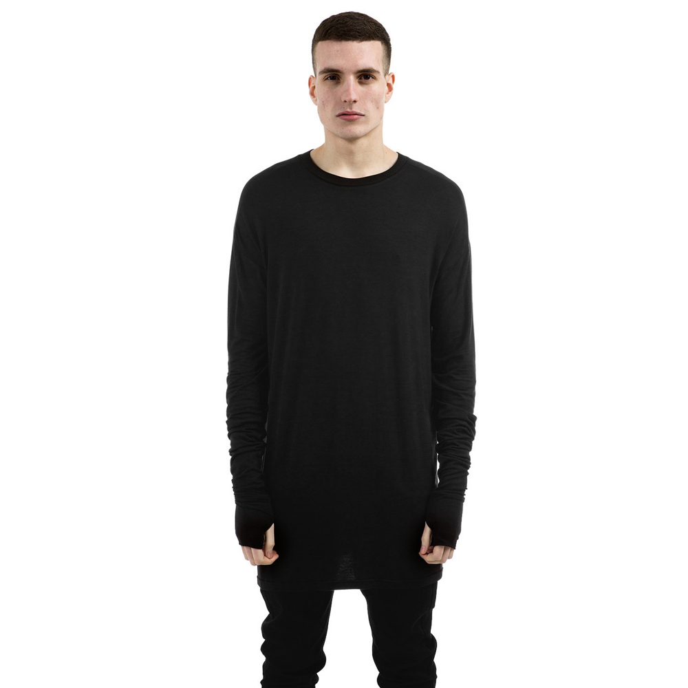Represent Black Essential Long Sleeve Under T-shirt