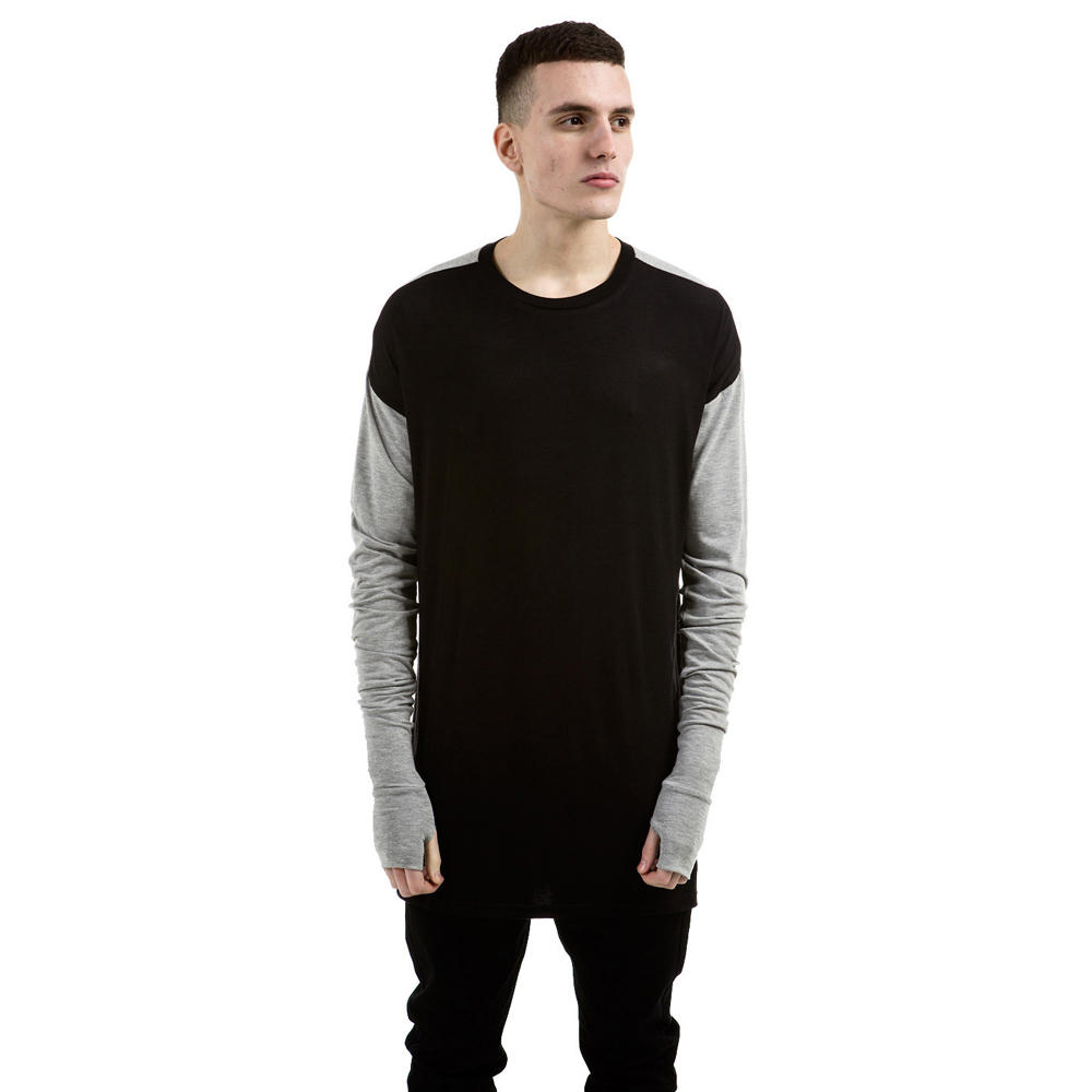 Represent Black & Grey Essential Long Sleeve Under T-shirt