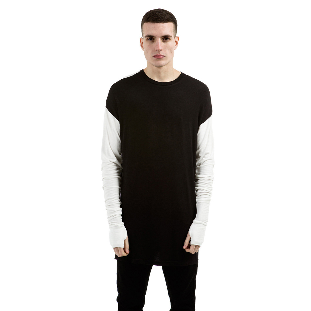 Represent Black & White Essential Long Sleeve Under T-shirt